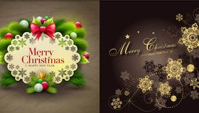 Merry Christmas Backgrounds 3 vector