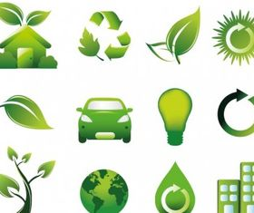 Green Icons graphic design vectors