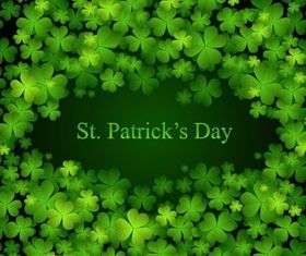 St Patricks Day Background vector graphic