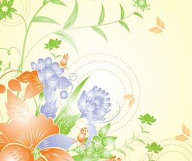 Flower background art vector material