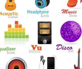 fashion music icon vector