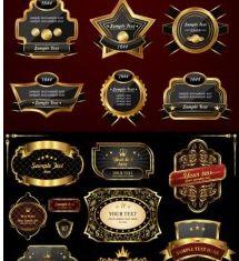 european gold label vectors graphic