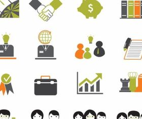 Business icons graphic design vectors