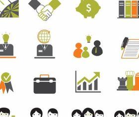 Business icons graphic design vectors