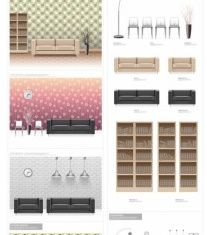 fashion indoor home vectors