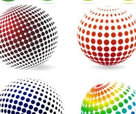 Spherical Shiny Logotypes art design vector