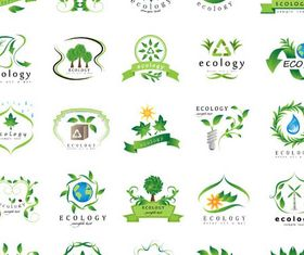 Ecology Symbols Mix vector