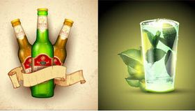 Drinks Backgrounds 2 vector