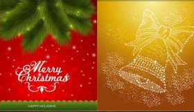 Christmas Backgrounds 5 design vector