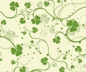 Green Seamless Floral Background set vector