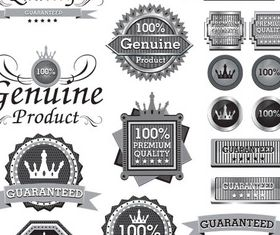 Silver Sale Labels Set design vectors