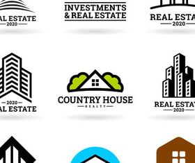 Real Estate Logotypes 13 set vector