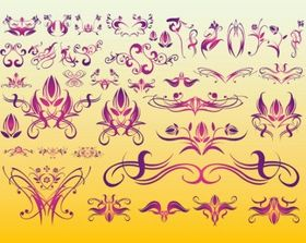 Floral Tattoo Art vector