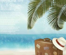 Beautiful beach background vector