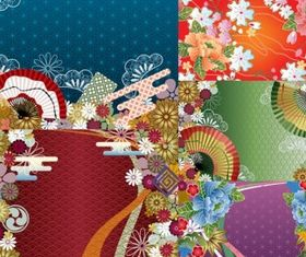 japanese wind pattern background design vector