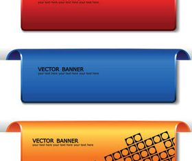 Colored web banner vector set