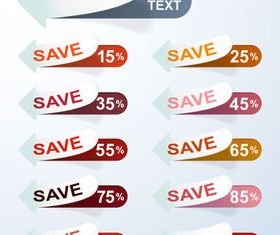 Discounts sale sticker vector