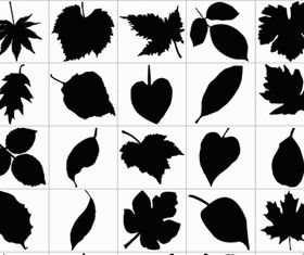 Leaf Silhouettes Free Graphic vector
