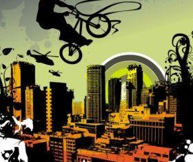 urban silhouette 01 vectors