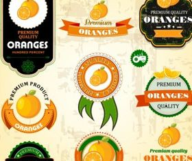 Oranges Label vector