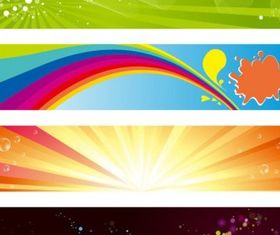 Horizontal Banners Set vector
