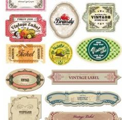 bottle labels and stickers vector