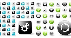 web square icon design vectors