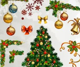 christmas decorative elements 01 Illustration vector