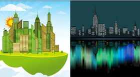 Cityscapes Backgrounds 3 vector