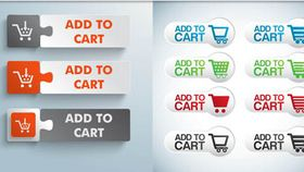 Add to Card Web Buttons vector