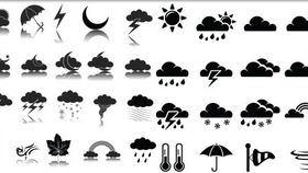 Black Weather Icons 2 creative vector