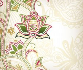 Abstract floral pattern background 04 design vector