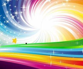 Abstract Rainbow Background vectors
