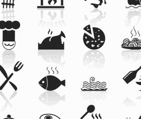 Food and Restaurant icons vector