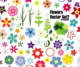 Flowers Set design vector