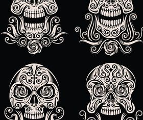 Skulls Creative Tattoo vector