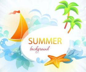 summer card 03 vector graphics