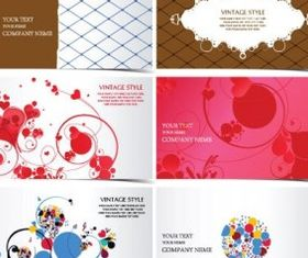 business card template pattern vectors material
