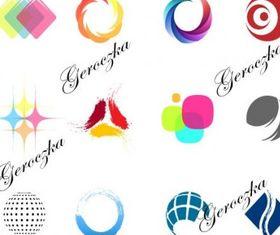 simple color logo design vector