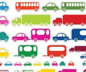 Toy Cars and Bus vectors graphic