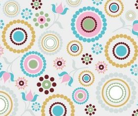 Retro Pattern Background set vector
