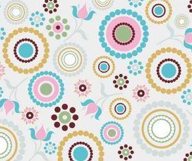 Retro Pattern Background set vector