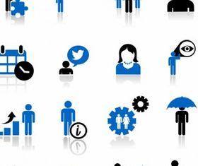 Business metaphor icons vector