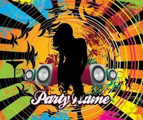 Free City Music Party Illustration vectors graphics
