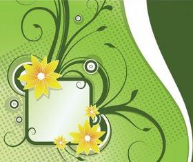 Floral Announcement Set vector