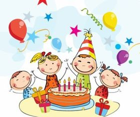 Birthday cartoon vector