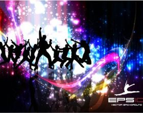 colorful background dance vector