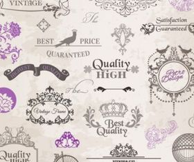 classic lace pattern 01 vector graphics