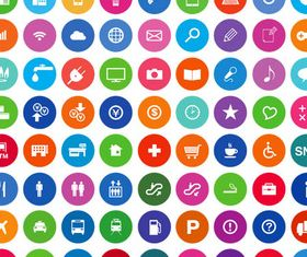 Flat Various Icons Mix vector