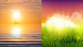 Shiny Sunset Landscapes 2 vector